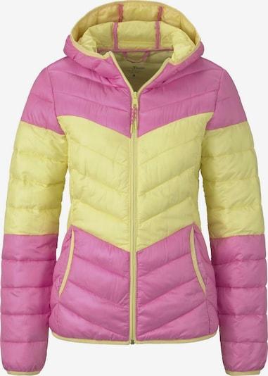 TOM TAILOR DENIM Steppjacke in gelb / pink, Produktansicht
