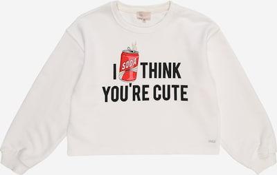 KIDS ONLY Sweatshirt in rot / schwarz / weiß, Produktansicht