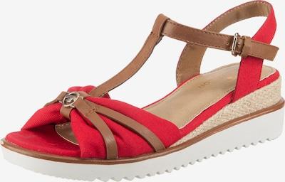 TOM TAILOR Sandalette in kupfer / hellrot, Produktansicht