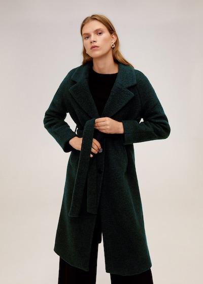 MANGO Mantel in smaragd, Modelansicht