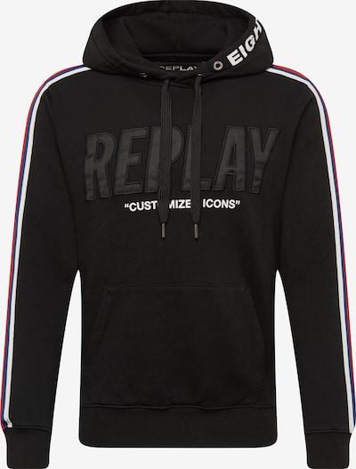 REPLAY Hoodie in rot / schwarz / weiß, Produktansicht