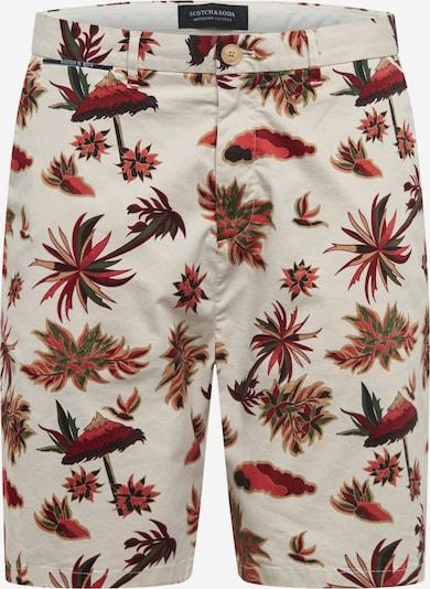 Pantaloni eleganți SCOTCH & SODA pe bej / maro / roșu ruginiu, Vizualizare produs