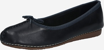 CLARKS Ballet Flats 'Freckle Ice' in Blue