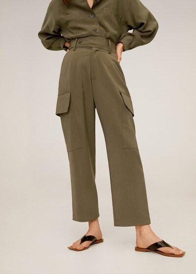 MANGO Bojówki 'Hailey' w kolorze khakim, Podgląd na modelu(-ce)