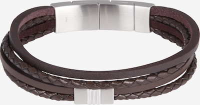 FOSSIL Bracelet in dark brown / silver, Item view