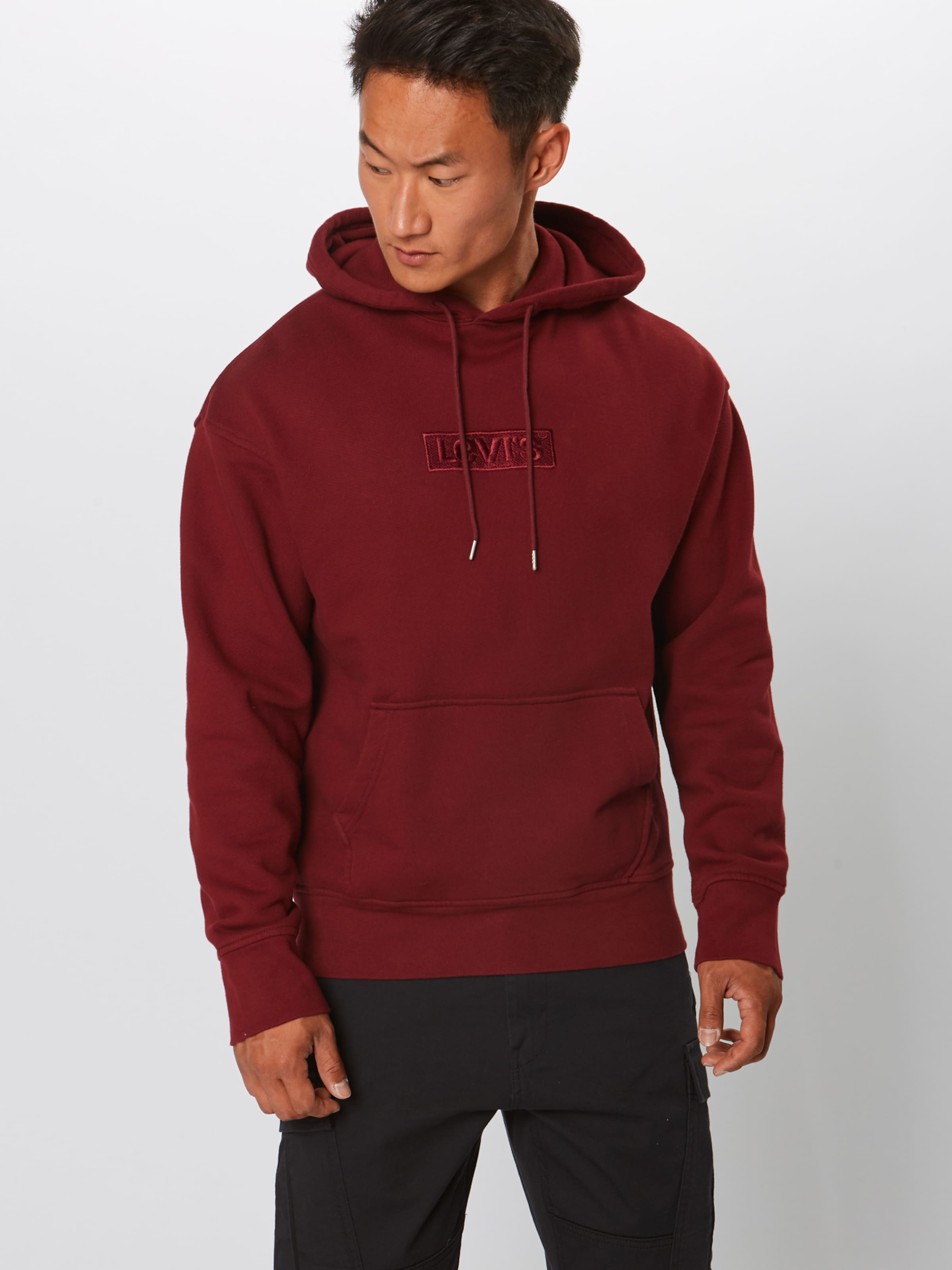 'oversized Levi's Graphic' Hoodie Rot In 8Okwn0P
