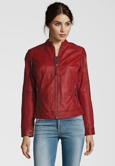 7ELEVEN Lederjacke 'Feman' in rot, Produktansicht