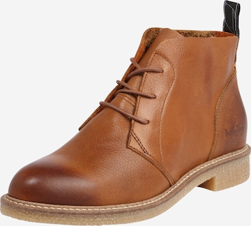 HUB Lace-Up Ankle Boots 'Tomar' in Brown