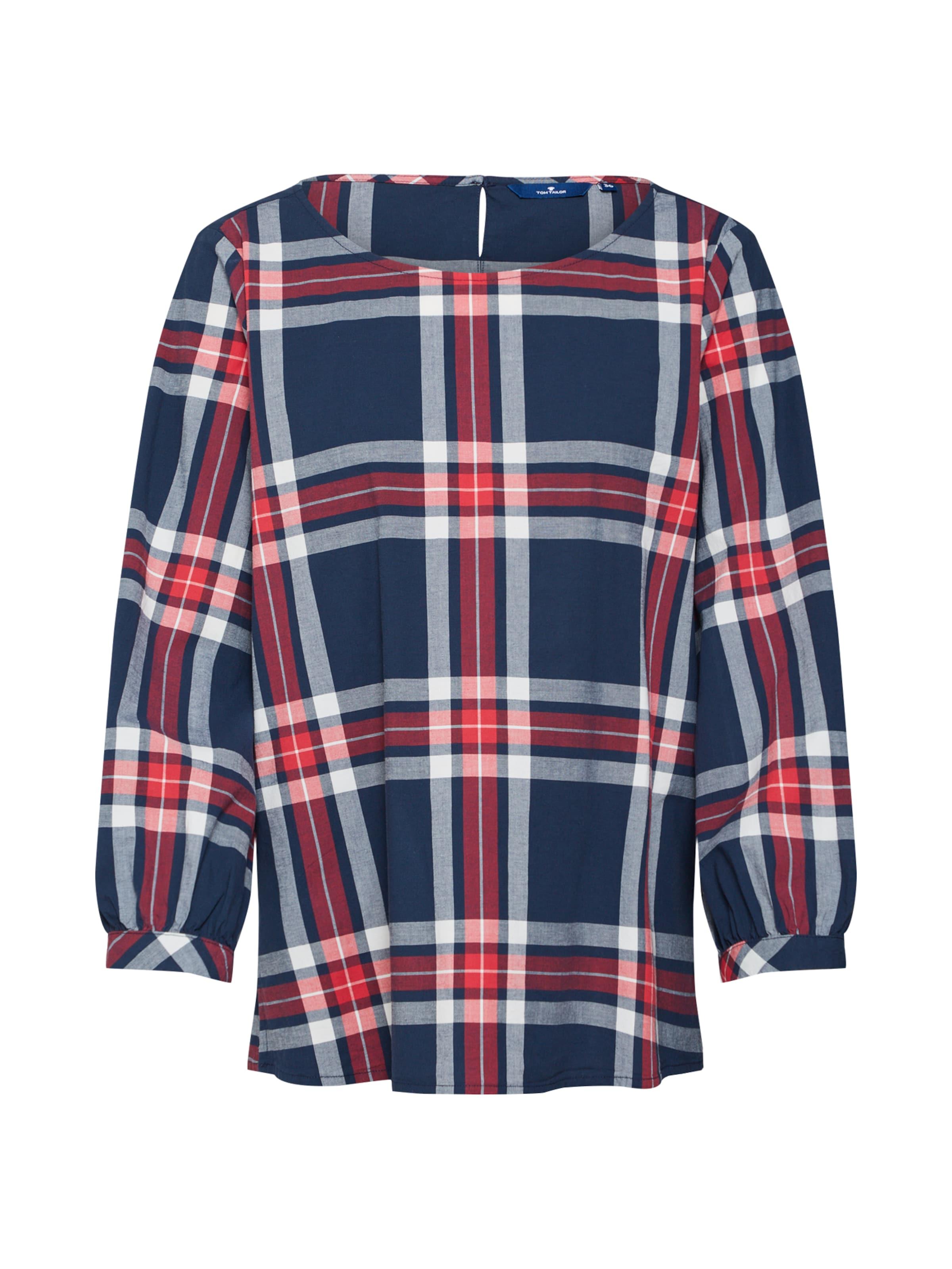 Bluse NavyRot Weiß Tom Tailor In PnOk08wX