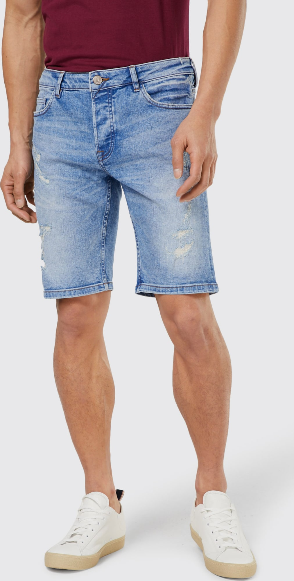 Citaten Weergeven Jeans : Only sons jeans blue damage in blauw about you