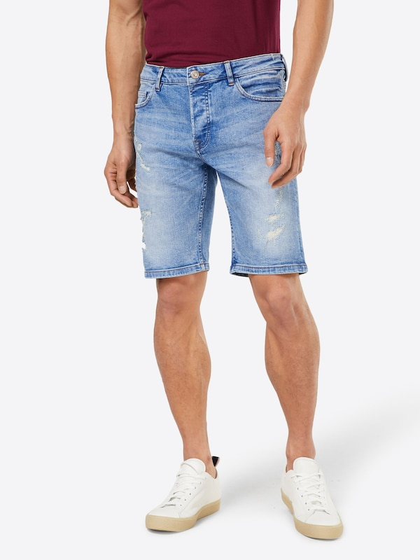 Only & Sons Shorts 'BLUE DAMAGE'