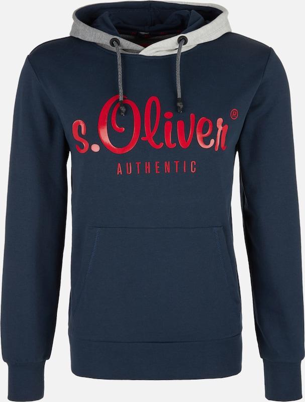 S.Oliver rot LABEL Sweatshirt in marine   grau   dunkelgrau   feuerrot  Markenkleidung für Männer und Frauen