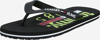 Tommy Jeans Iešļūcenes ar pirkstu atdalītāju 'TOMMY JEANS BEACH SANDAL PRINT' pieejami melns, Preces skats