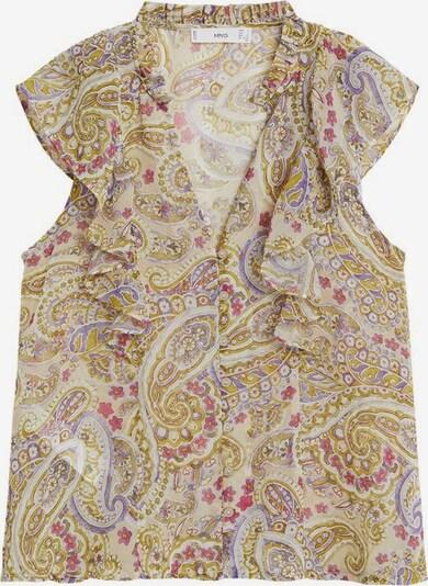 MANGO Bluse 'Isabella' in oliv / mischfarben, Produktansicht