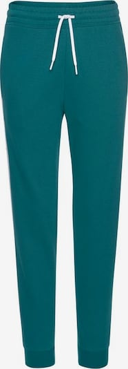 Pantaloni sport REEBOK pe petrol / negru / alb, Vizualizare produs