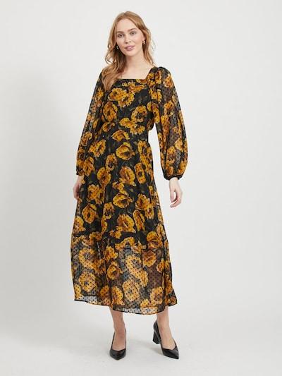 OBJECT Kleid in goldgelb / schwarz, Modelansicht