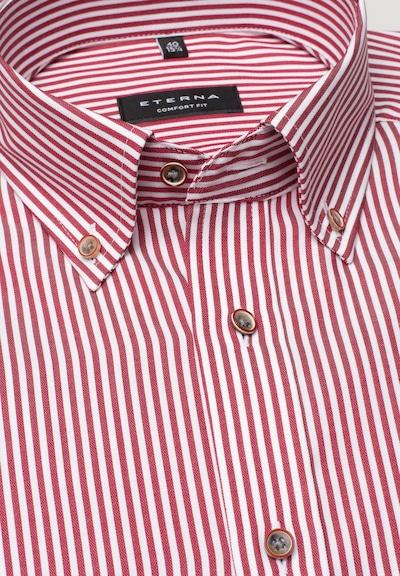 ETERNA Hemd in rot / weiß: Frontalansicht