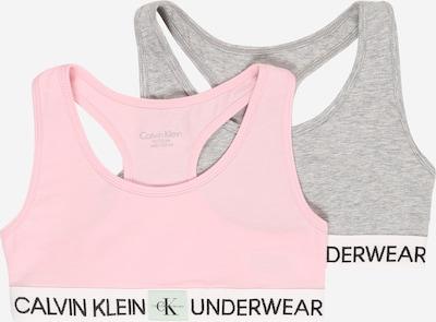Calvin Klein Underwear Soutiens-gorge en gris chiné / rose, Vue avec produit