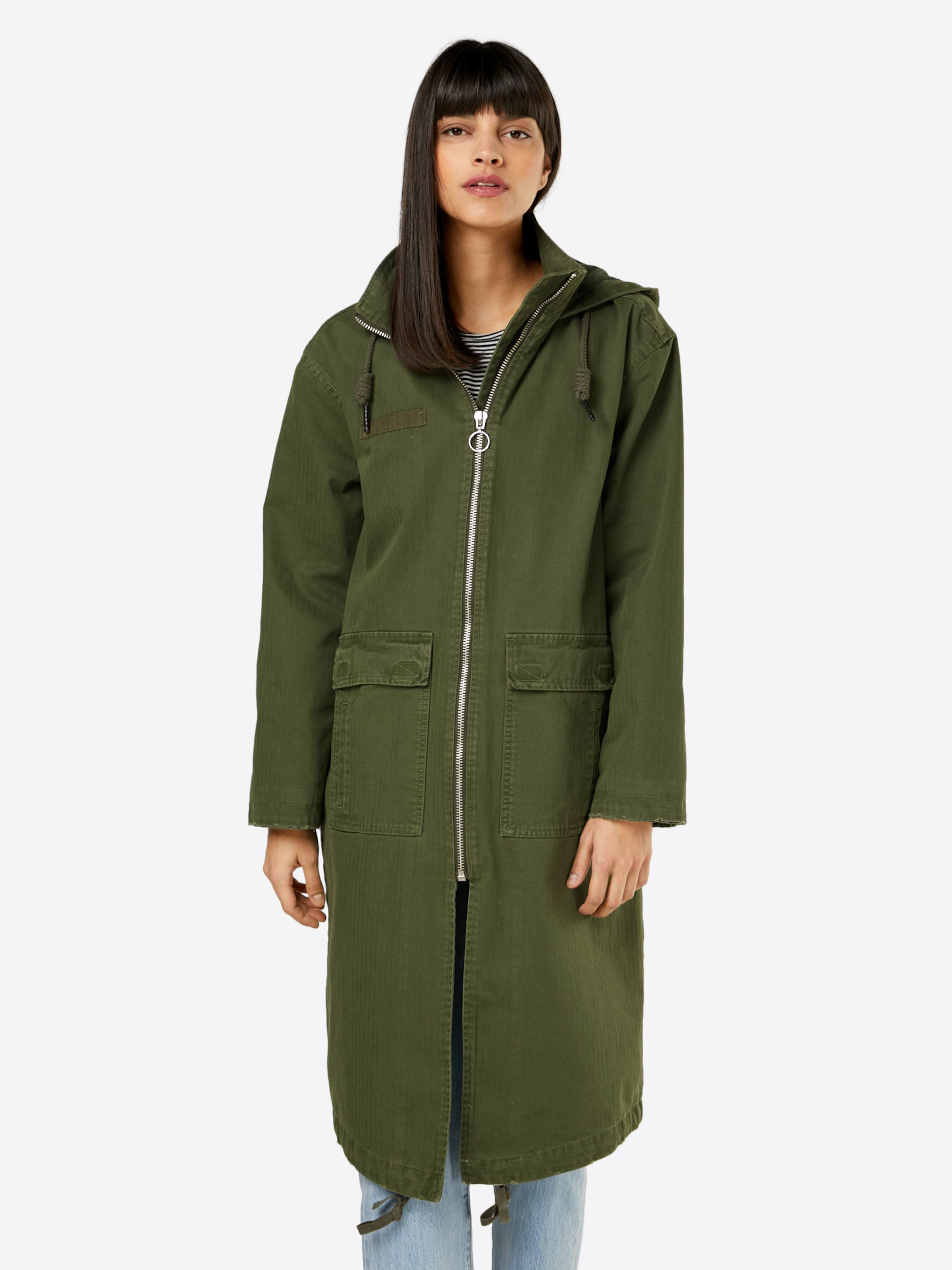 In Olijfgroen Tussenparka 'long Army Review Coat' EDI29YWH