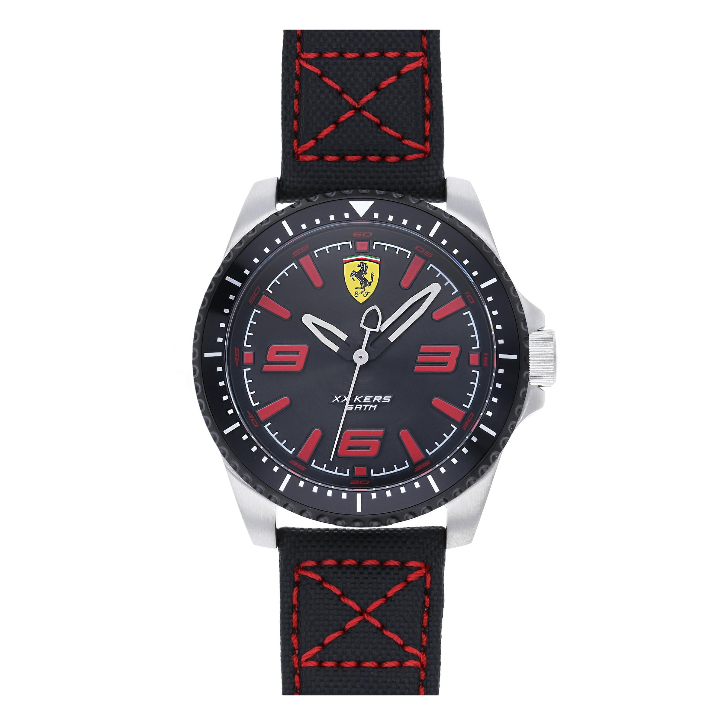 Scuderia Montre 'xx Kers' Affichage RougeNoir À Analogique En Ferrari 4LARq35j