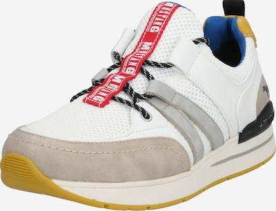 MUSTANG Sneaker in beige / grau / rot / weiß, Produktansicht