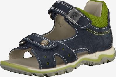 RICHTER Chaussures ouvertes en bleu outremer / pomme, Vue avec produit