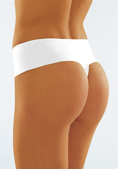 PETITE FLEUR Stringtanga (3 Stck.) in weiß, Produktansicht