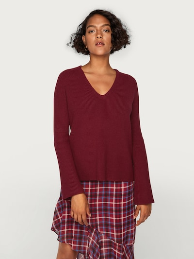 EDITED Pullover 'Amber' in bordeaux: Frontalansicht