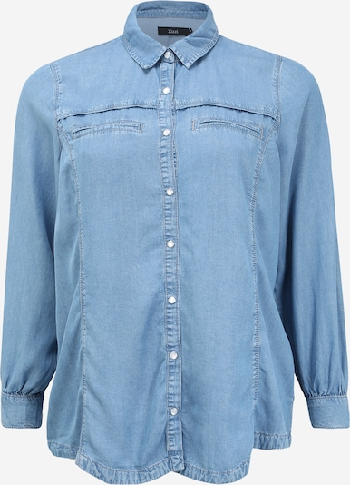 Zizzi Bluse 'JANNA' in blue denim, Produktansicht