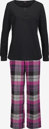 H.I.S Pyjama in lila / schwarz, Produktansicht