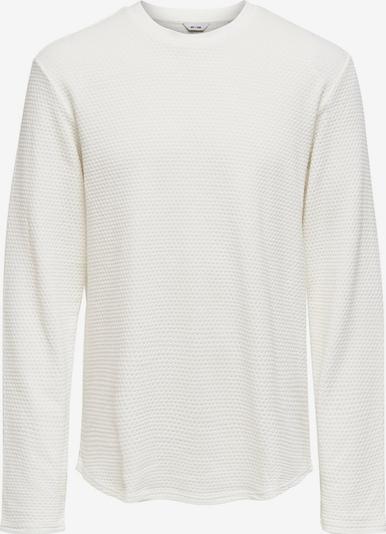Only & Sons Sweat-shirt en blanc, Vue avec produit