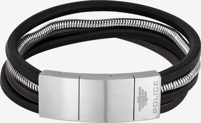 POLICE Armband in schwarz / silber, Produktansicht