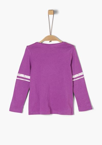 s.Oliver Shirt in hellgelb / lila / rosa / weiß, Produktansicht