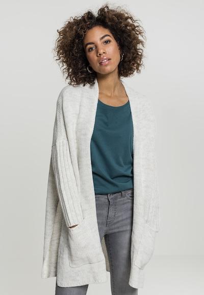 Urban Classics Cardigan oversize en gris / blanc, Vue avec modèle