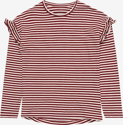 NAME IT Shirt 'NKFVERDI' in weinrot / weiß, Produktansicht