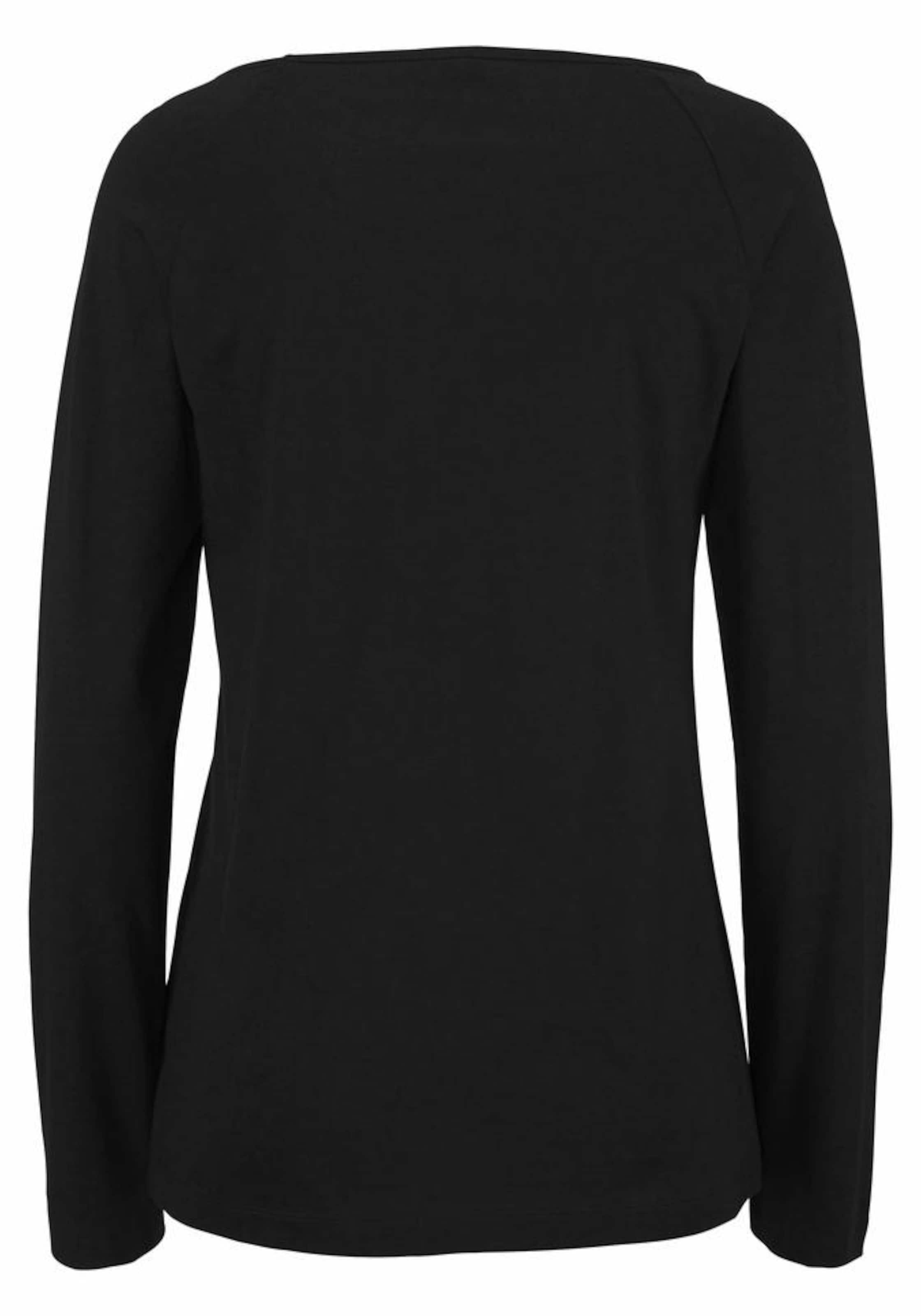 Schwarz oliver Shirt Raglanärmeln S Mit In 5A4jR3L