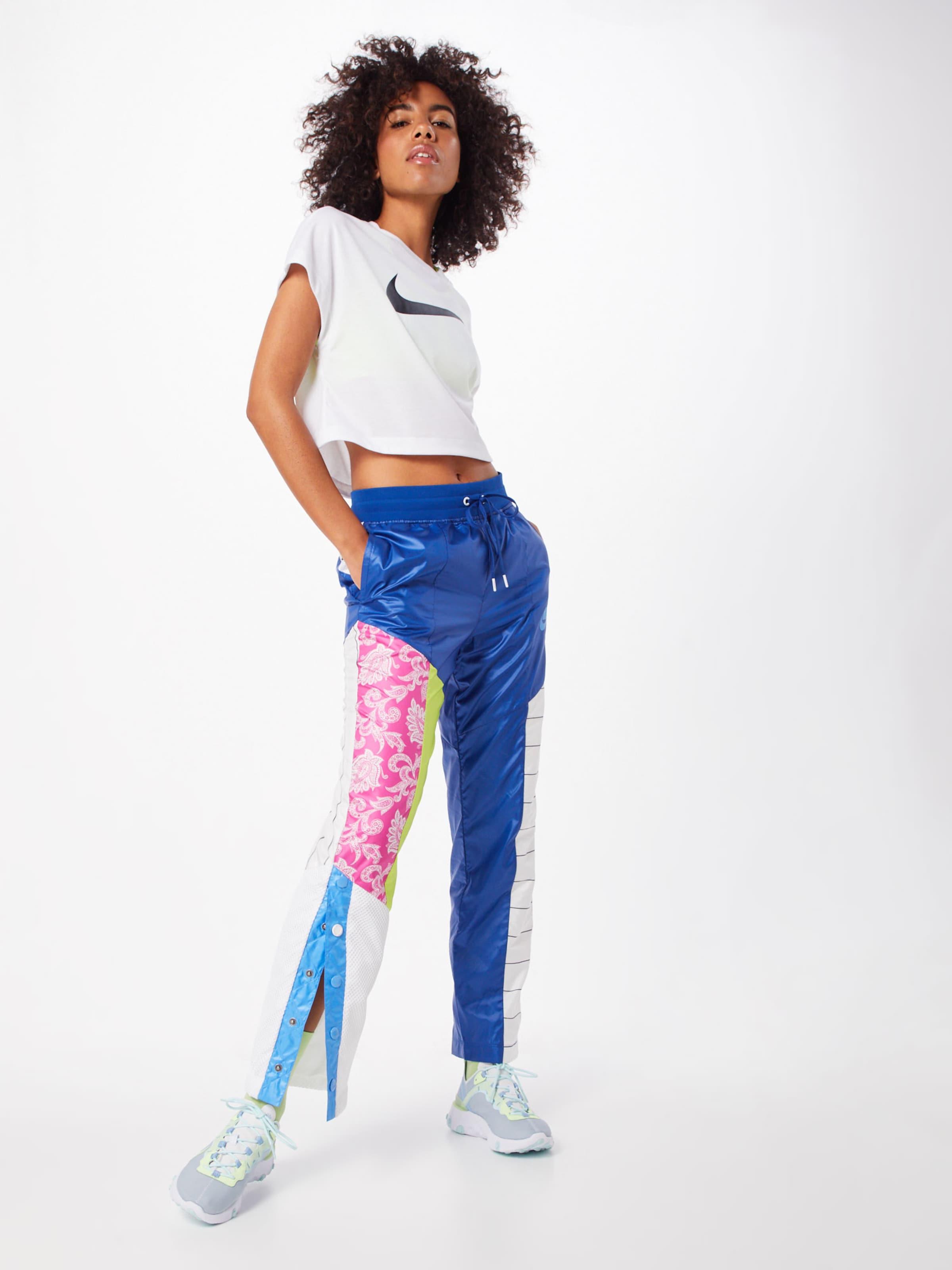 Sportswear Pantalon Blanc En Nike BleuMélange De Couleurs redBoQWCx