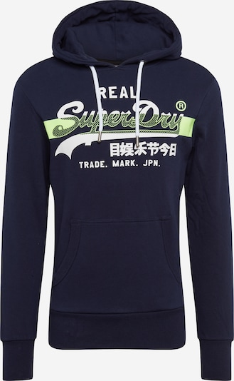 Superdry Sweatshirt in navy / gelb, Produktansicht
