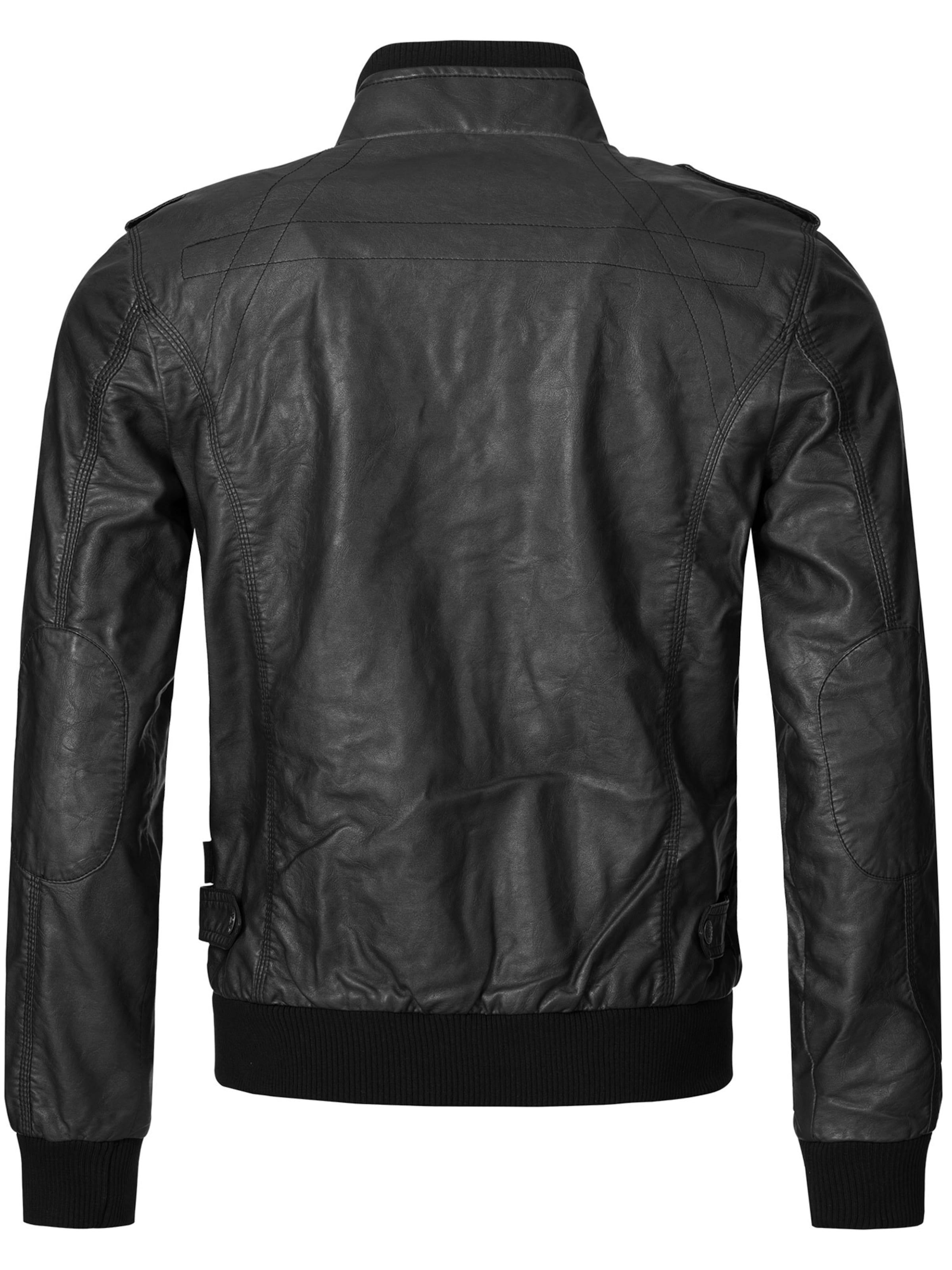 Indicode In Bikerjacke Schwarz Jeans 'inco' WEIYD2be9H
