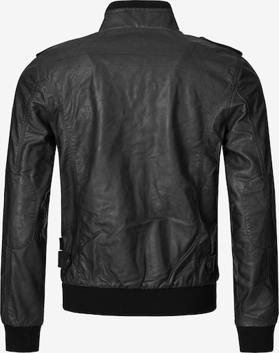 INDICODE JEANS Bikerjacke 'Inco' in schwarz, Produktansicht