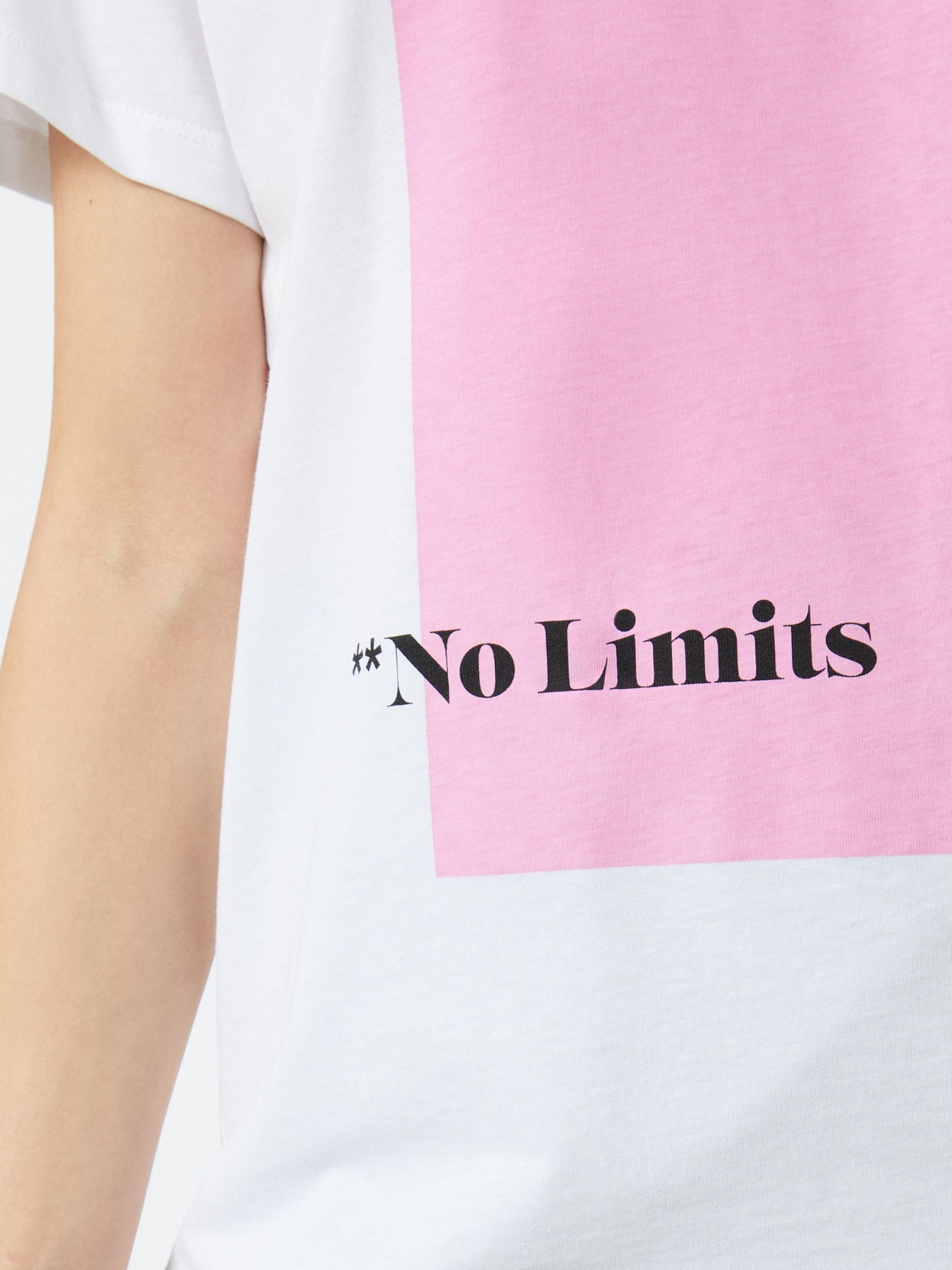 Noisy may Póló 'Wendy' rózsaszín / fehér színben