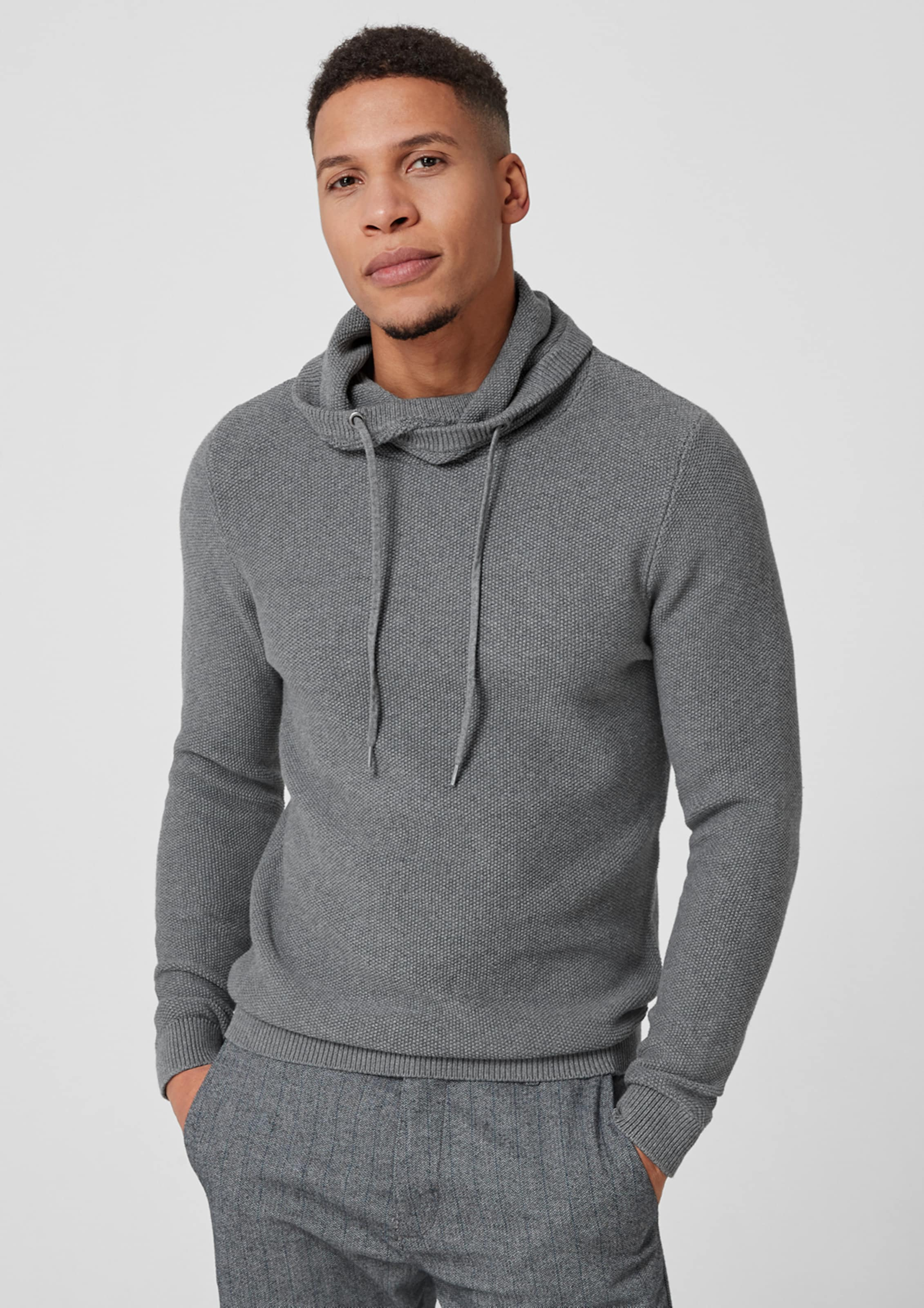 By Q s Designed Silbergrau In Pullover kuPiZX