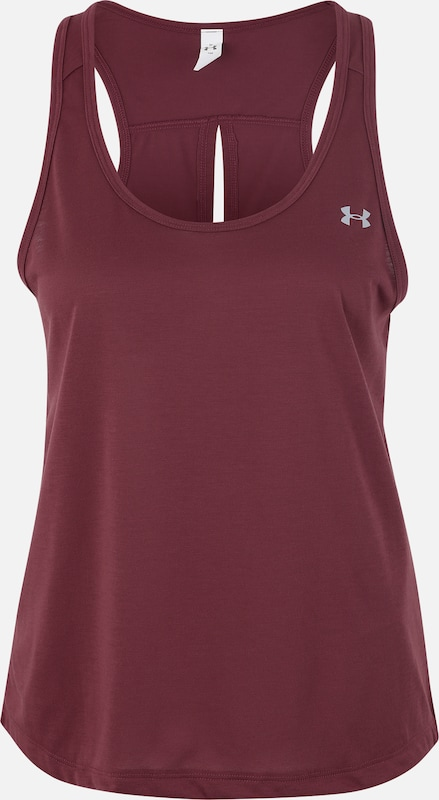 lila UNDER ARMOUR Sport top 'UA Whisperlight Tie Back', Termék nézet