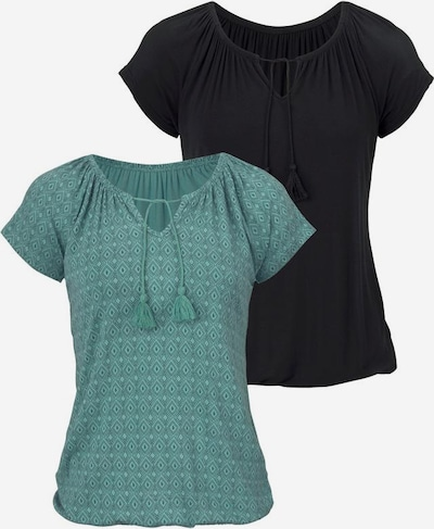 VIVANCE Shirts in mint / schwarz, Produktansicht