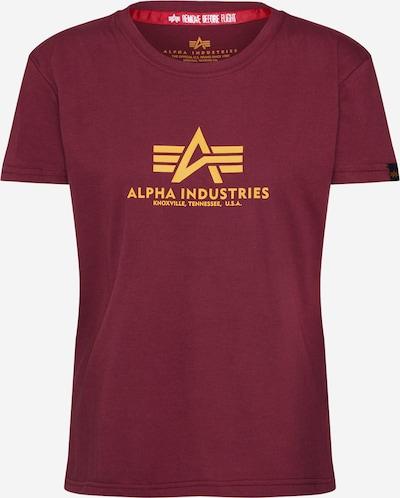 ALPHA INDUSTRIES Camiseta 'New Basic T Wmn' en borgoña, Vista del producto