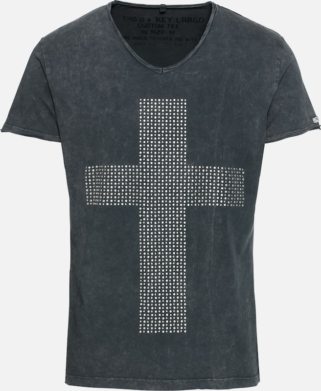 shirt Believer En Largo Gris V 'mt Foncé Key neck' T JTlF3Kc1