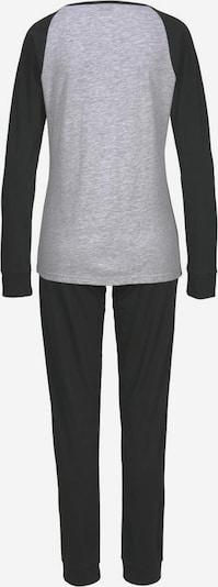ARIZONA Pyjama in grau / schwarz, Produktansicht