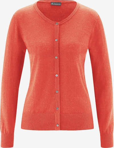 HempAge Jacke ' Knit Cardigan ' in orange, Produktansicht