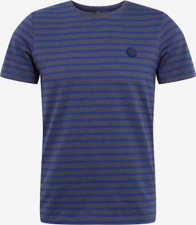 s.Oliver Shirt in blau / grau: Frontalansicht