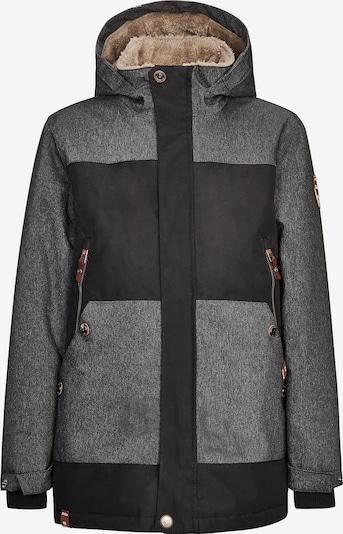 KILLTEC Jacke 'Iro' in schwarz / weiß, Produktansicht